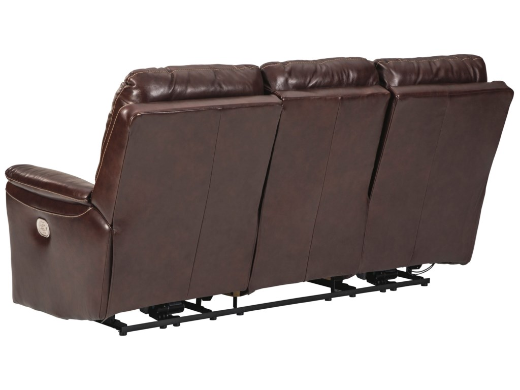 Signature Design by Ashley DellingtonPower Reclining Sofa with Adjustable HR