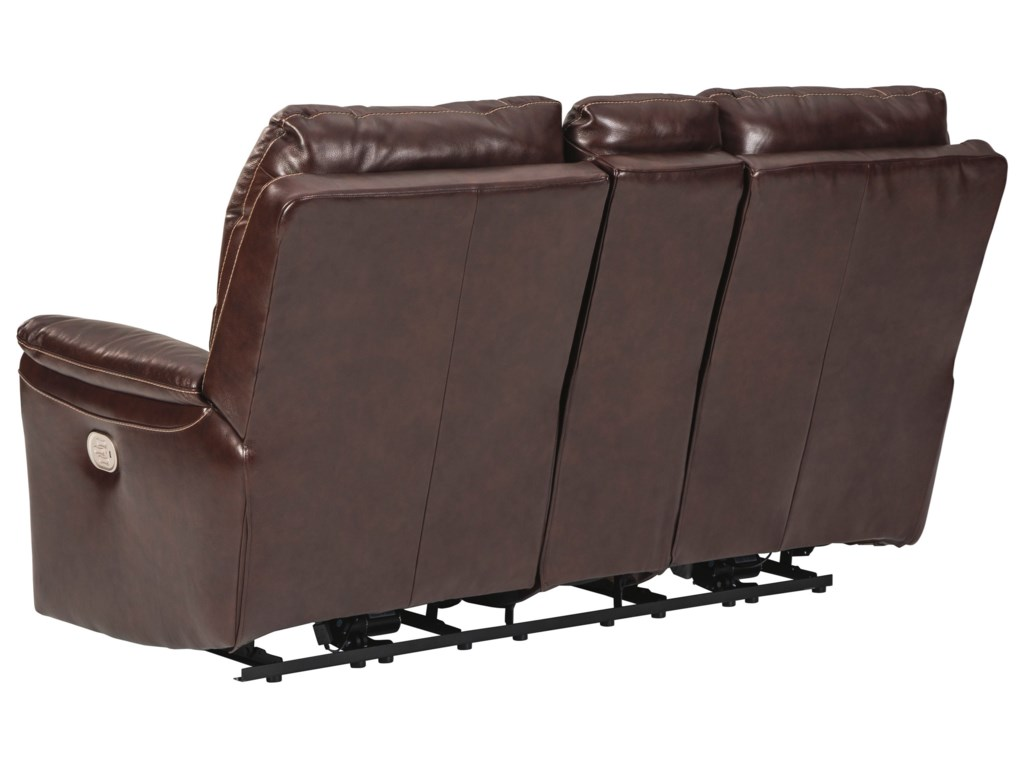 Signature Design by Ashley DellingtonPower Reclining Loveseat with Console