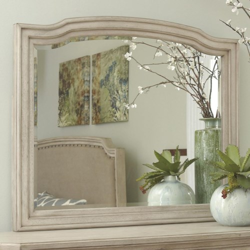 Signature Design by Ashley Clayton Bedroom Mirror with Shaped Frame