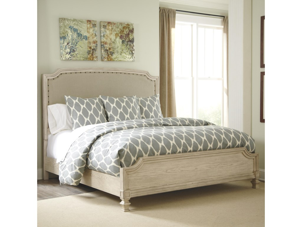 Signature Design By Ashley Demarlosking Upholstered Panel Bed King