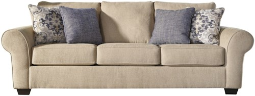 Signature Design By Ashley Denitasse Casual Sofa With Rolled Arms Furniture Mart Colorado