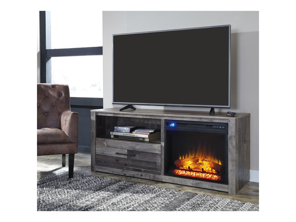 Signature Design by Ashley DereksonTV Stand with LED Fireplace