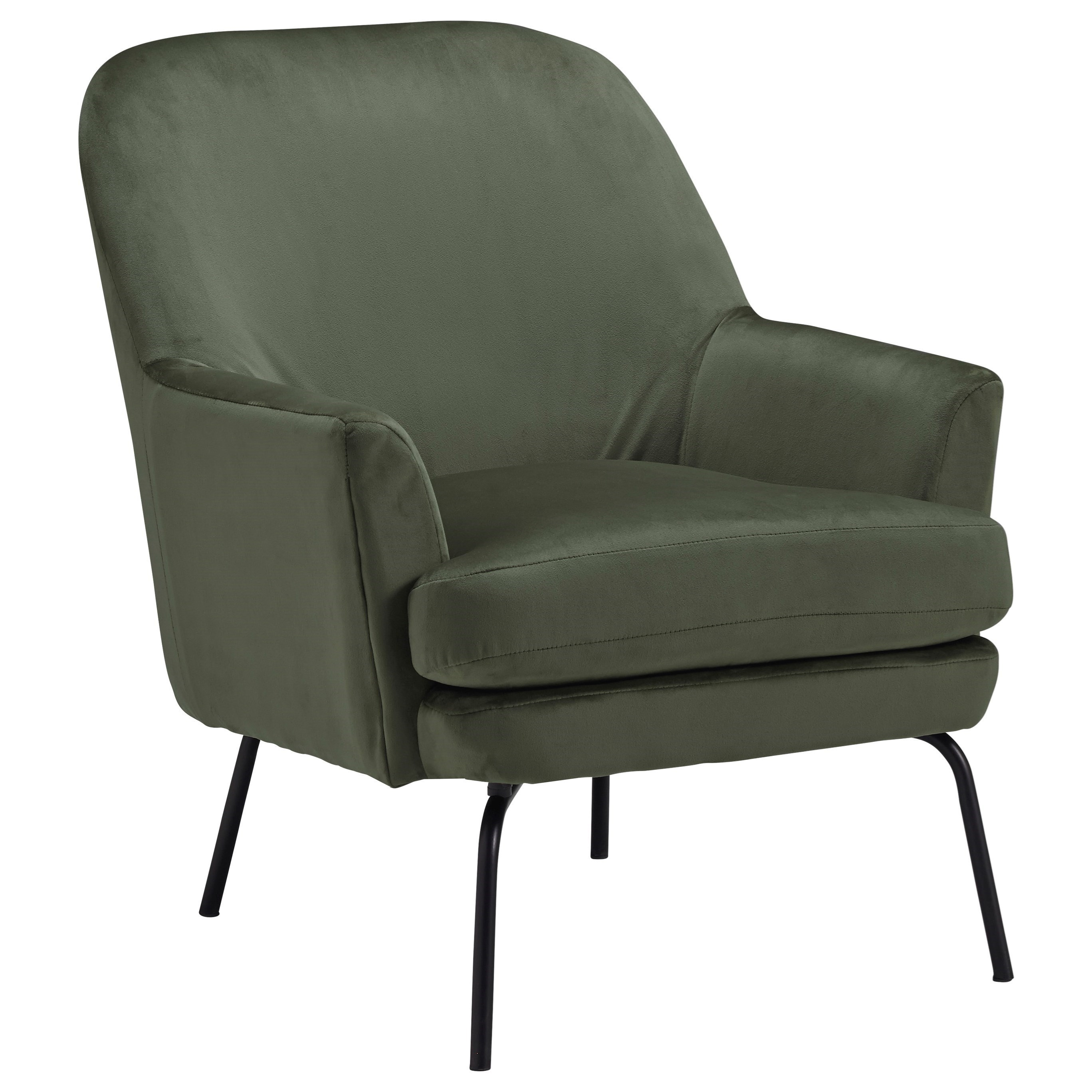Picture of: Signature Design By Ashley Dericka Modern Accent Chair With Black Finish Metal Legs Royal Furniture Upholstered Chairs