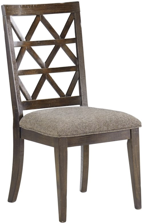 Signature Design by Ashley Devasheen Dining Upholstered Side Chair with Lattice Back