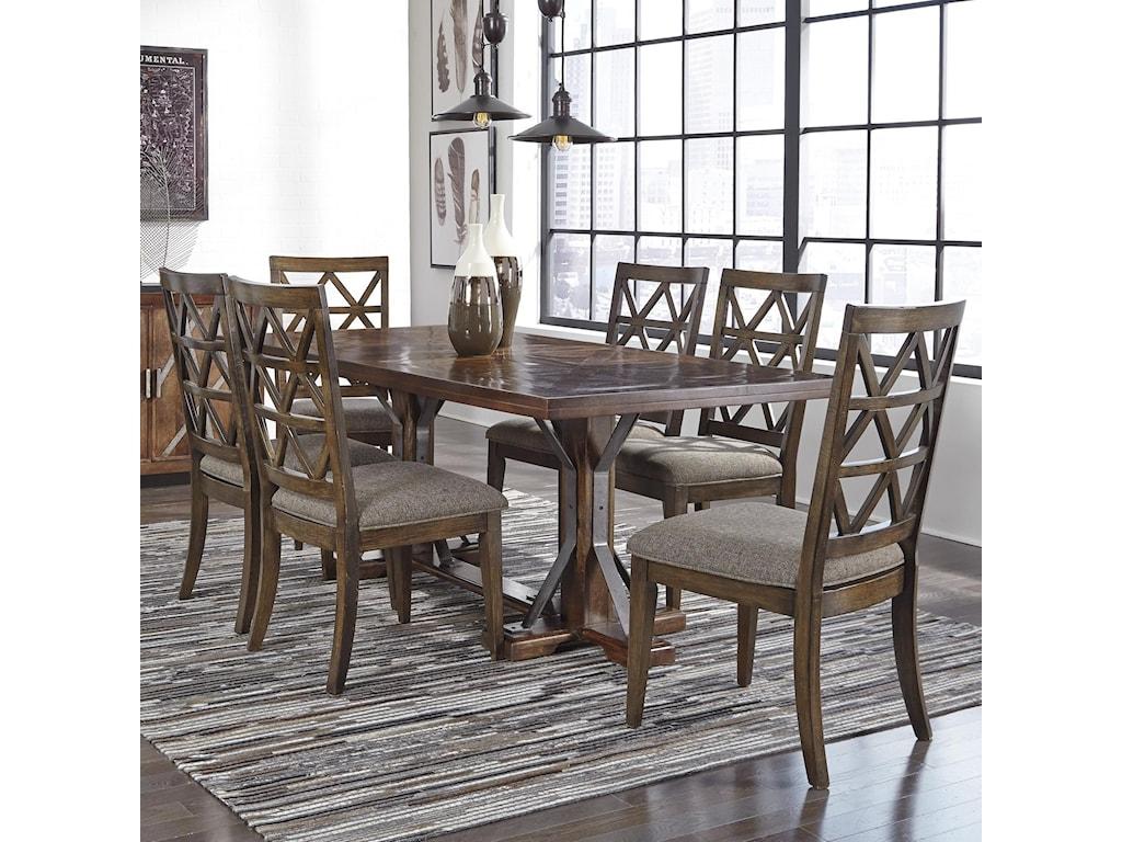 Signature Design by Ashley Devasheen7 Piece Rectangular Table Set