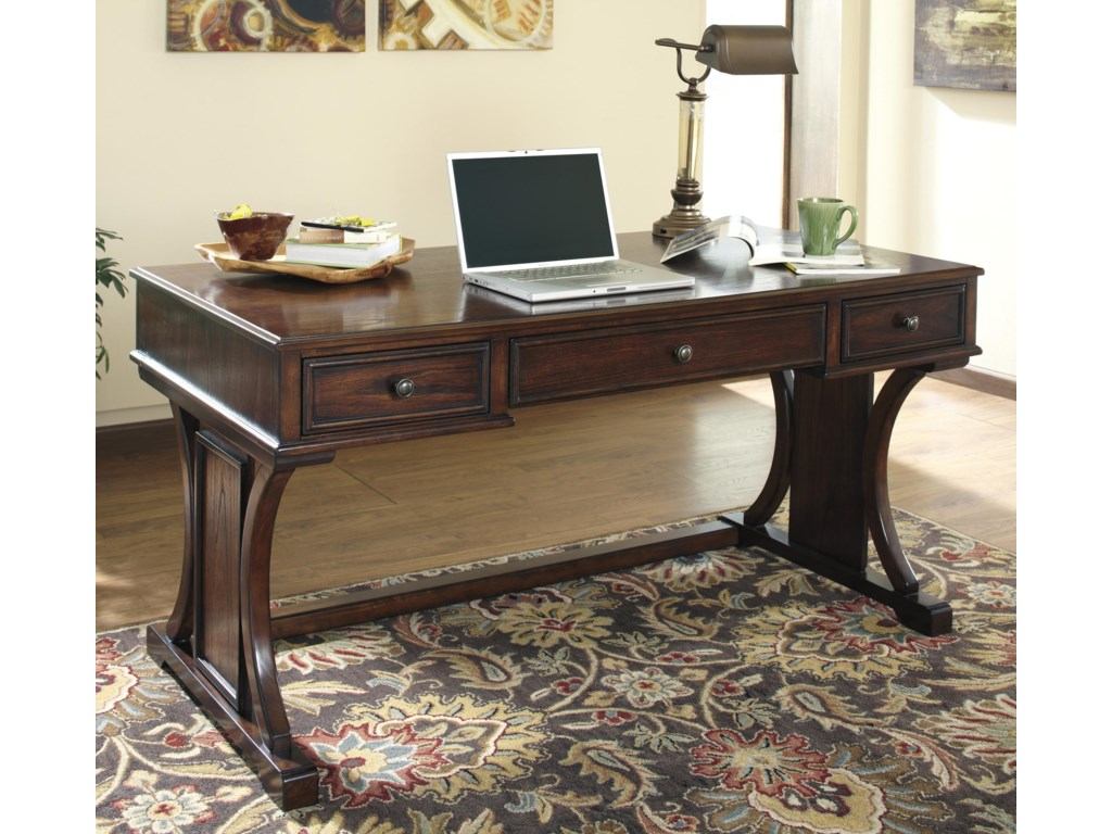 Devrik home office desk with drop down keyboard tray by signature design by ashley