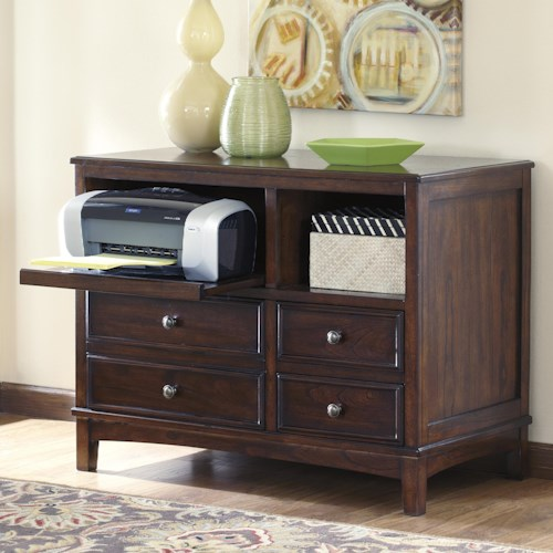 Signature Design by Ashley Devrik Storage Cabinet with Vented Pull-Out Tray