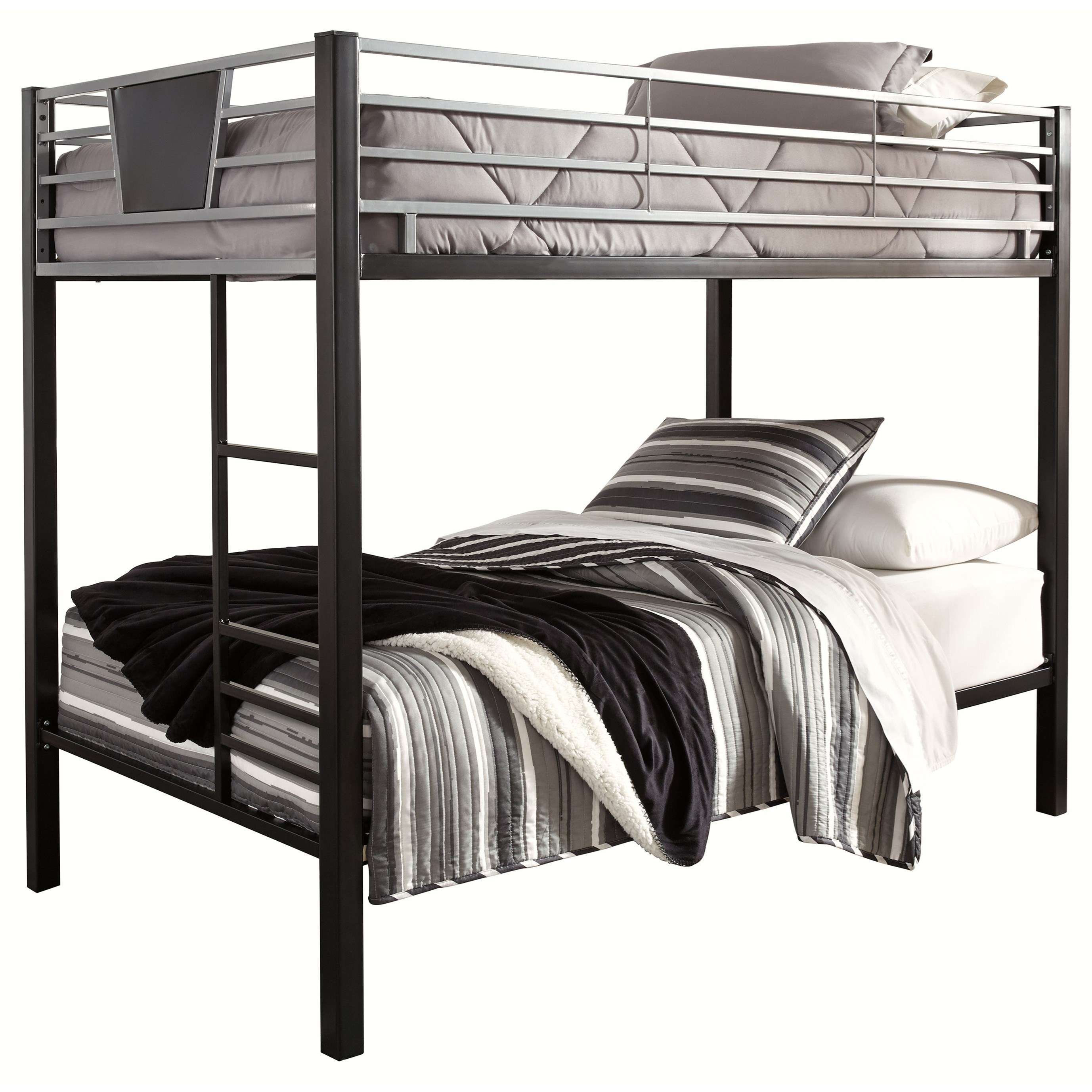 Picture of: Signature Design By Ashley Dinsmore Twin Twin Metal Bunk Bed W Ladder Royal Furniture Bunk Beds