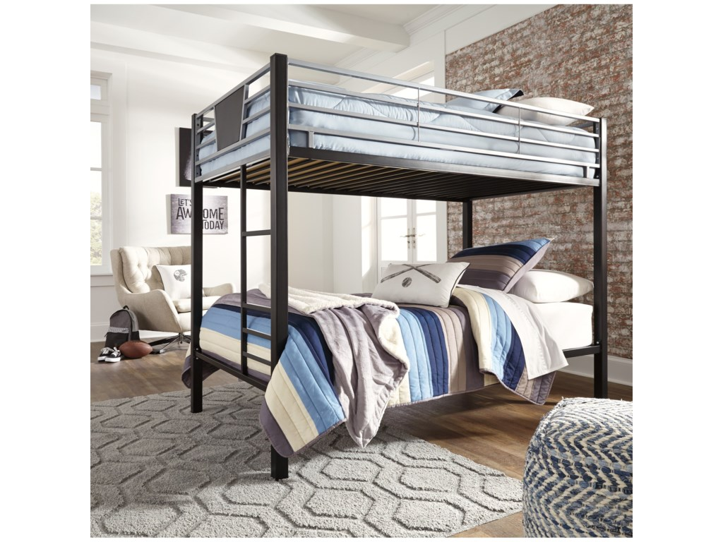 Ashley Signature Design DinsmoreTwin/Twin Bunk Bed w/ Ladder