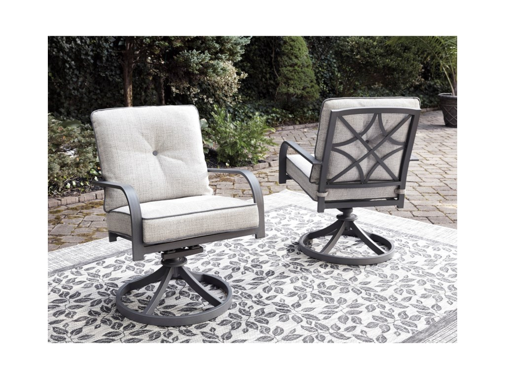 Signature Design by Ashley Donnalee BaySet of 2 Swivel Lounge Chairs