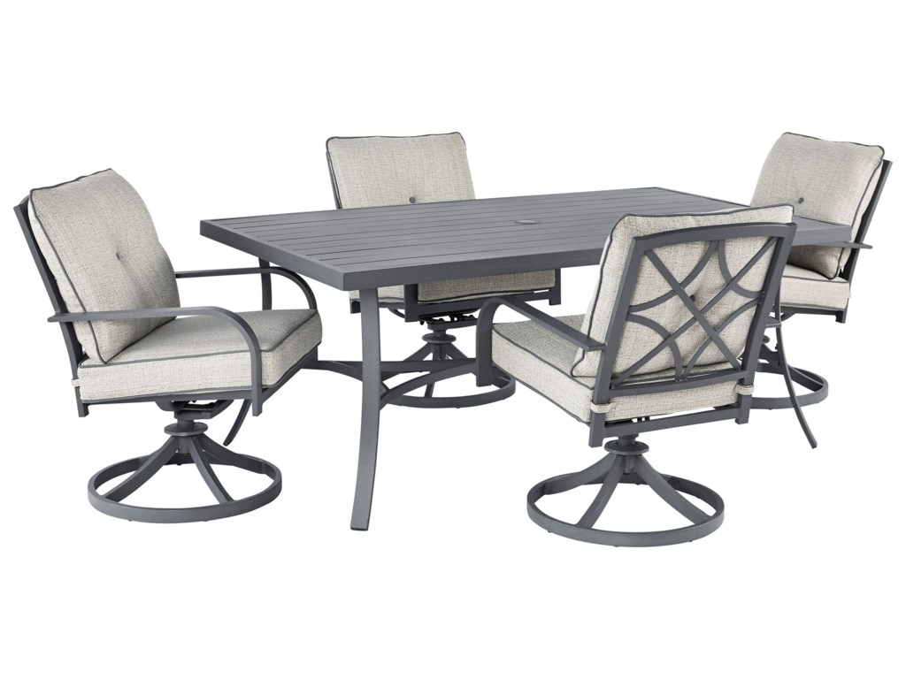 Signature Design by Ashley Donnalee Bay5 Piece Outdoor Dining Set