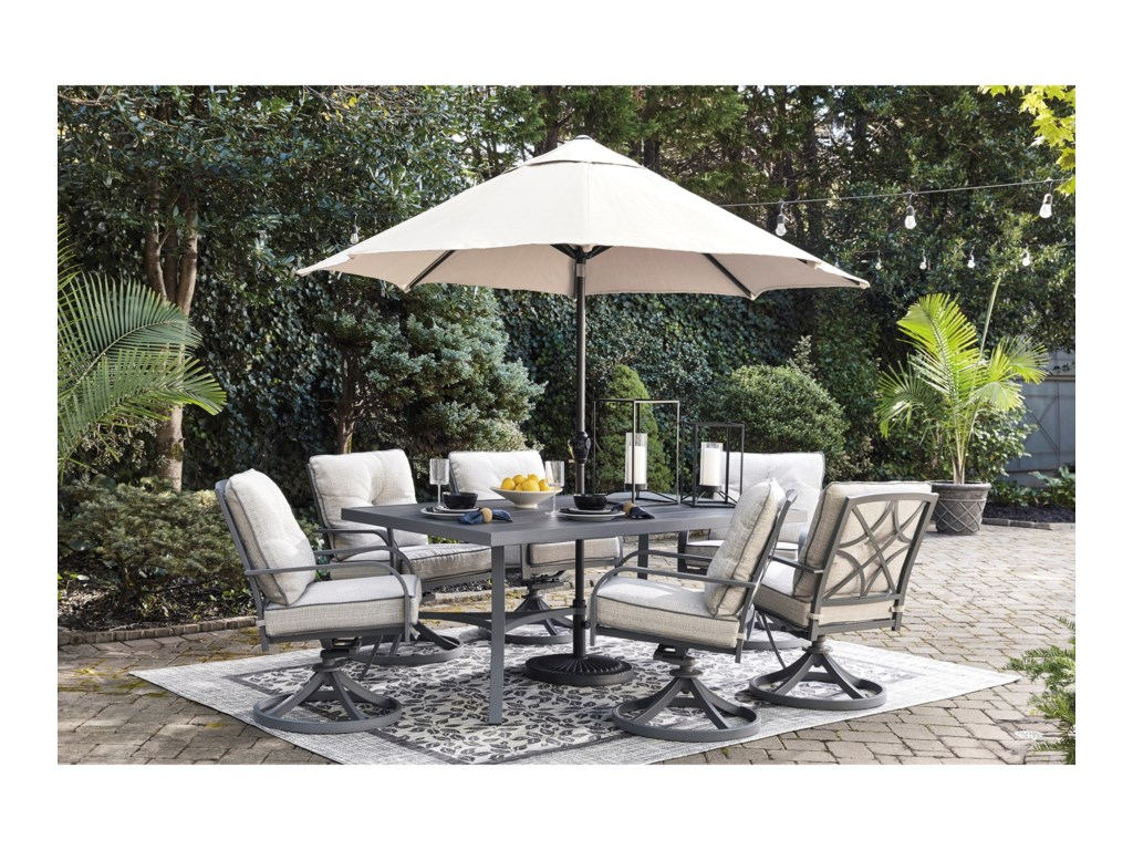 Signature Design by Ashley Donnalee Bay7 Piece Outdoor Dining Set