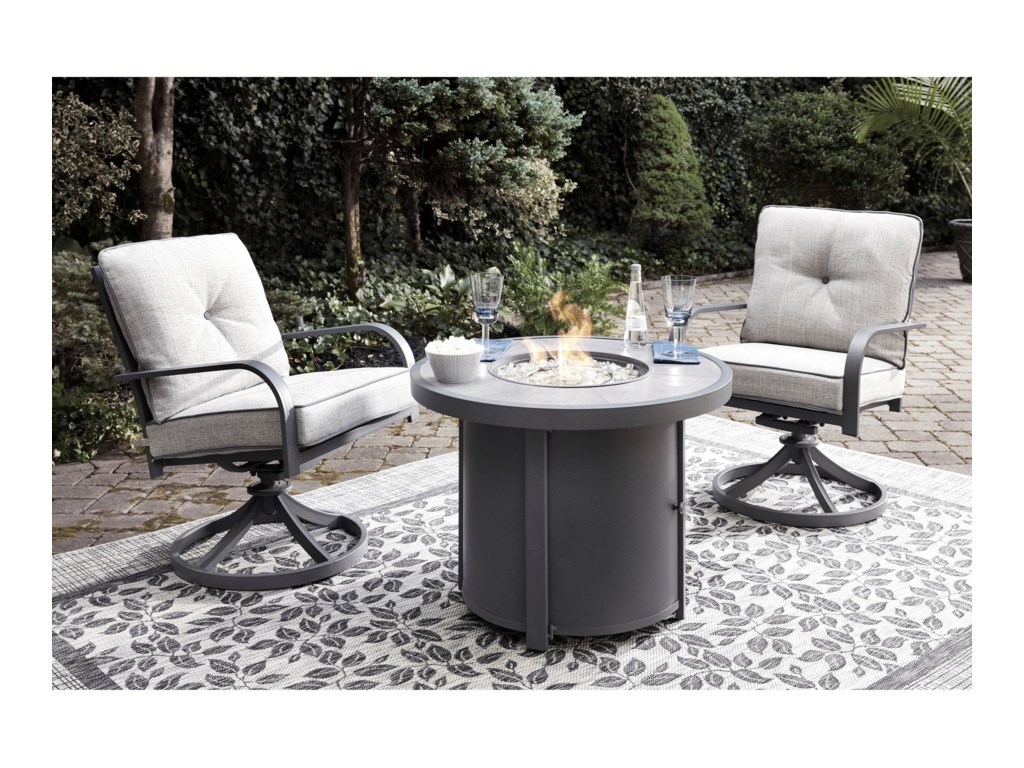 Signature Design by Ashley Donnalee Bay3 Piece Fire Pit Chat Set
