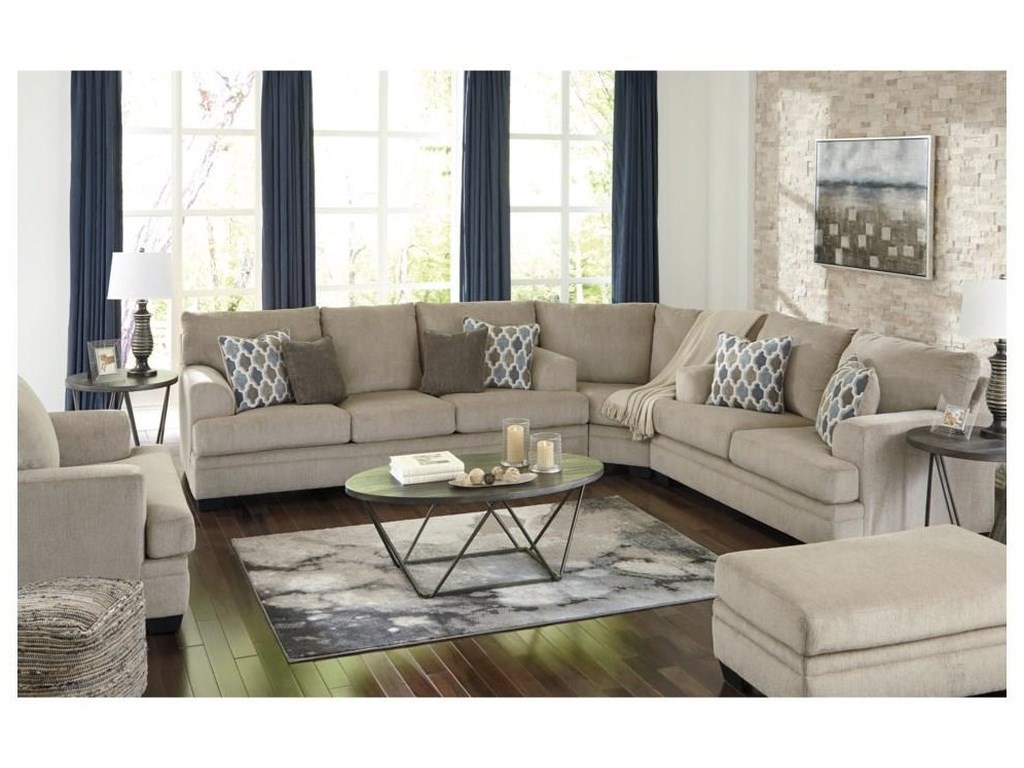Signature Design by Ashley Dorsten3 PC Sectional and Chair Set