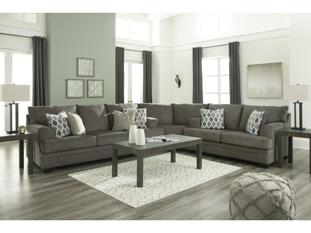 Signature Design by Ashley Dorsten3 PC Sectional and Recliner Set