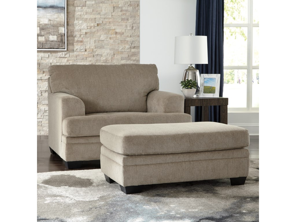 Signature Design by Ashley DorstenChair and a Half with Ottoman