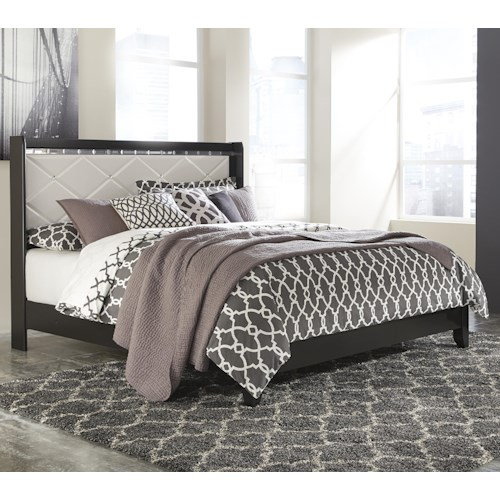 Signature Design by Ashley Fancee King Panel Bed with Faux Crystals