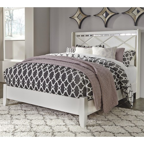 Signature Design by Ashley Dreamur Queen Panel Bed with Faux Crystals