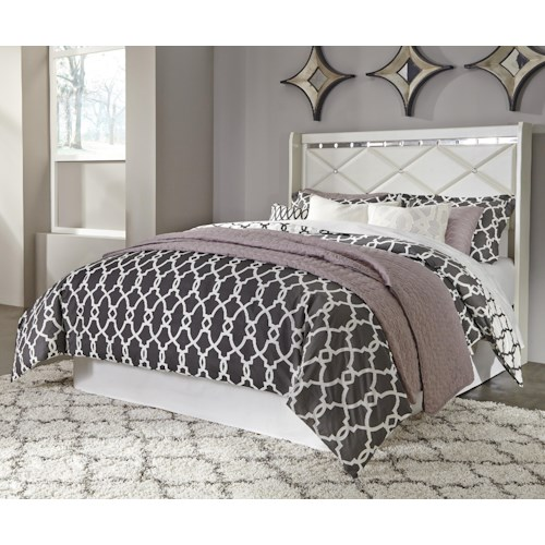 Signature Design by Ashley Dreamur Queen Panel Headboard with Faux Crystals