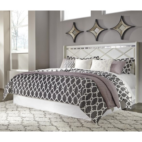 Signature Design by Ashley Dreamur King/California King Panel Headboard with Faux Crystals