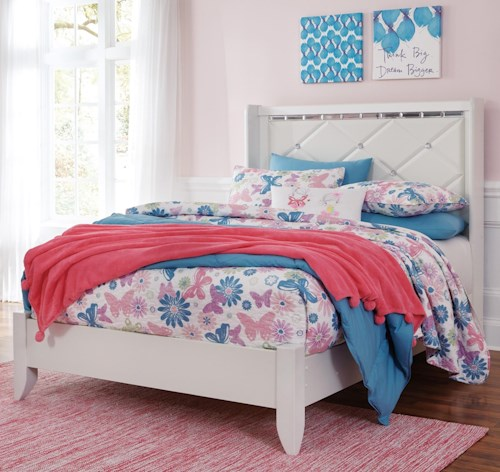 Signature Design by Ashley Dreamur Full Panel Bed with Faux Crystals