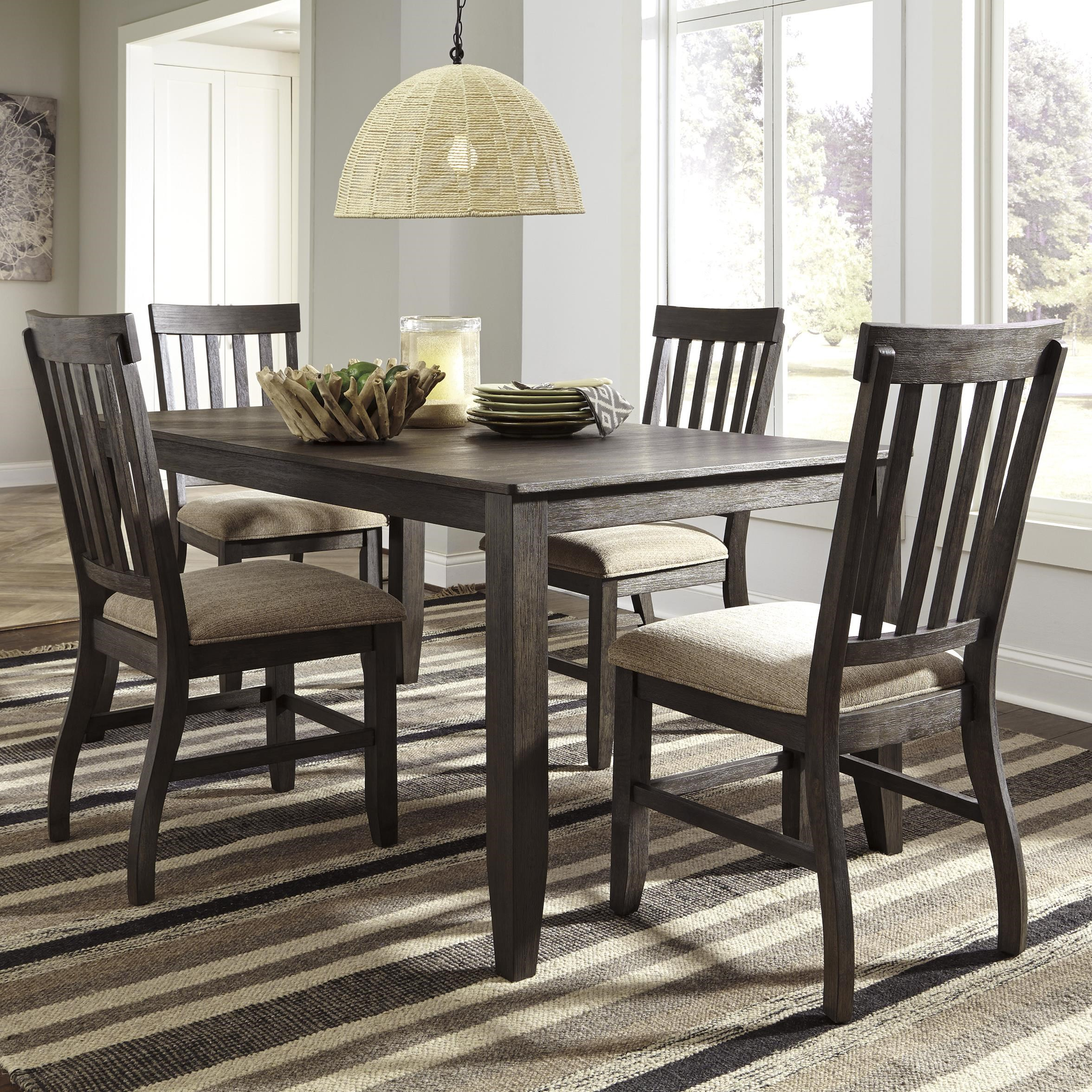 signature design by ashley dresbar 5piece rectangular dining table set