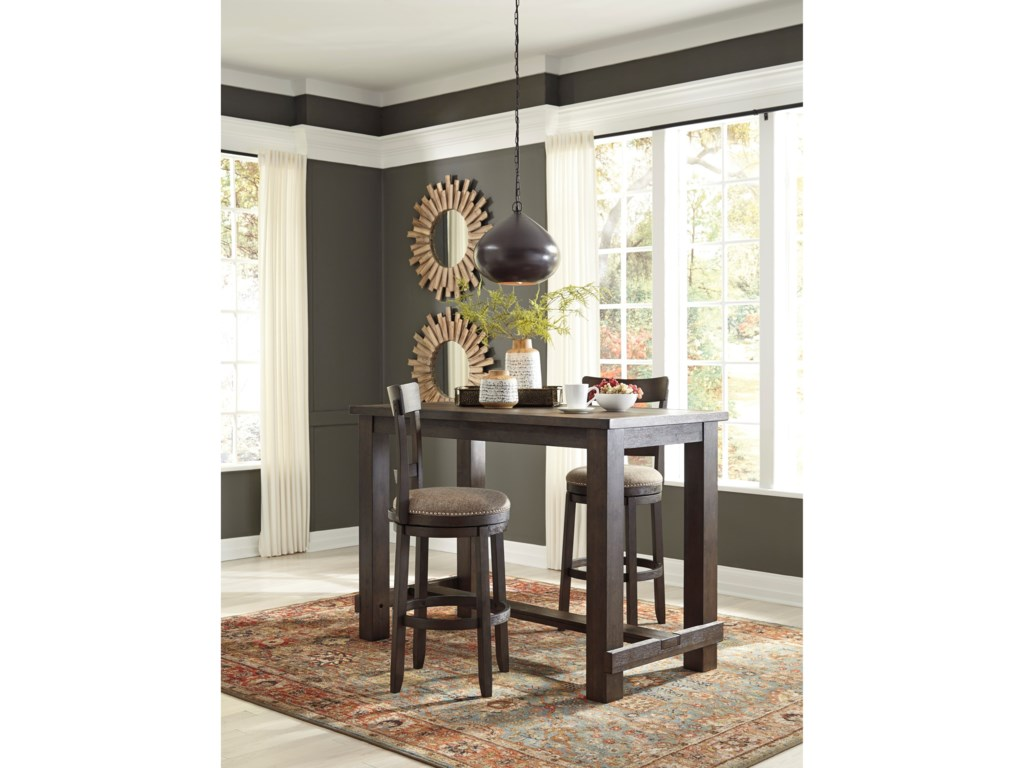 Signature Design by Ashley DrewingThree Piece Pub Table & Chair Set