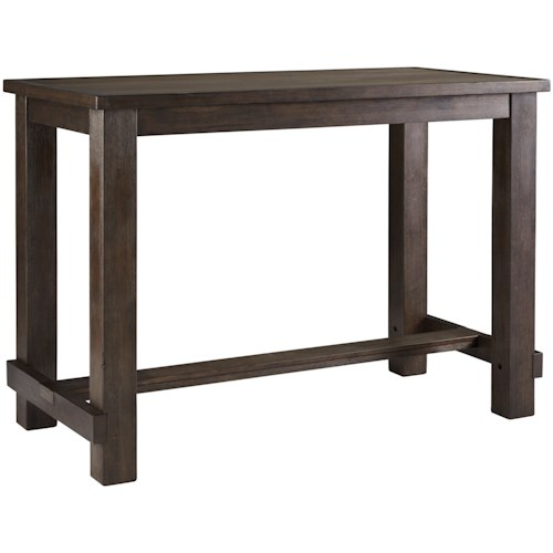 Signature Design by Ashley Drewing Relaxed Vintage Rectangular Bar Table