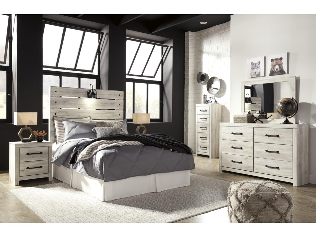 Signature Design by Ashley CambeckFull Panel Bed , Dresser, Mirror, Nightstand