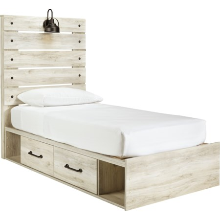 Twin Storage Bed with 2 Drawers