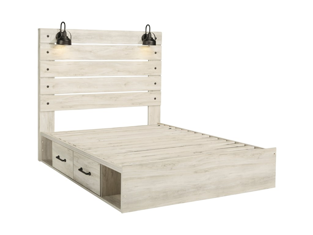 Signature Design by Ashley CambeckQueen Storage Bed with 2 Drawers