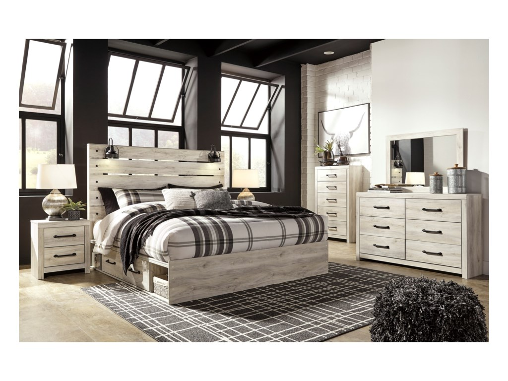 Signature Design by Ashley CambeckKing Storage Bed with 2 Drawers