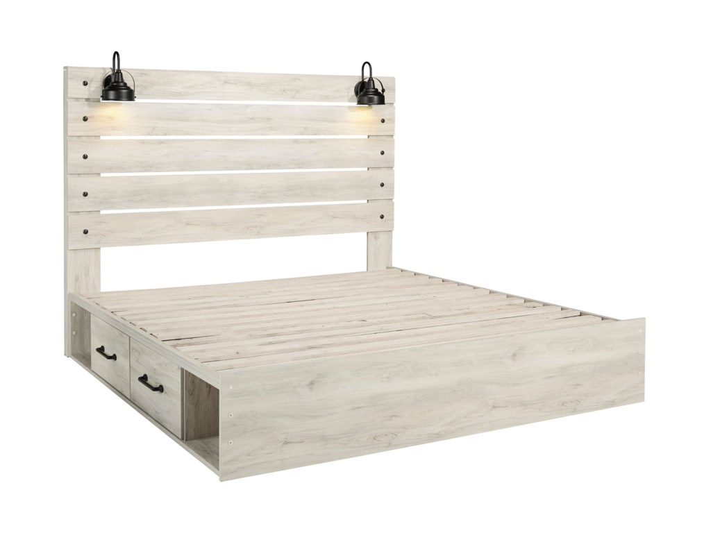 Signature Design by Ashley CambeckKing Storage Bed with 4 Drawers