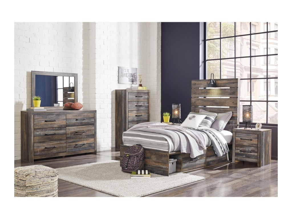 Signature Design by Ashley DrystanTwin Storage Bed with 2 Drawers