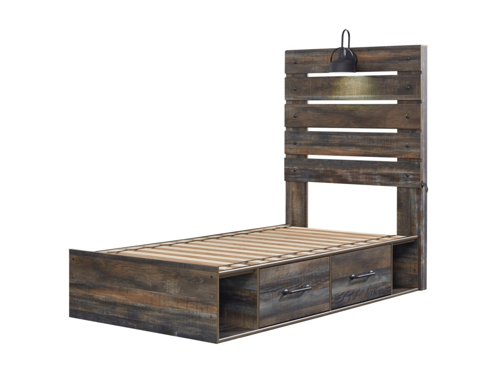 Signature Design by Ashley DrystanTwin Storage Bed with 4 Drawers