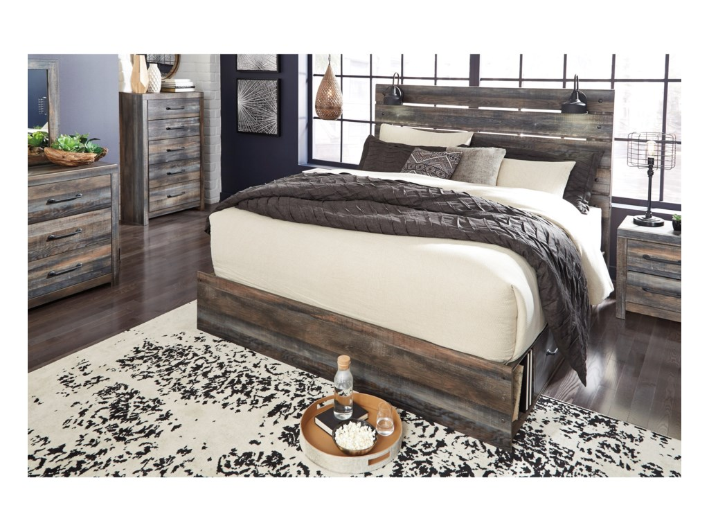 Signature Design by Ashley DrystanKing Storage Bed with 2 Drawers