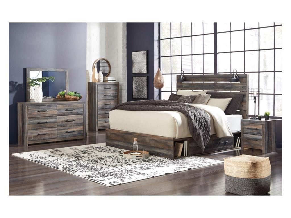 Signature Design by Ashley DrystanKing Storage Bed with 4 Drawers