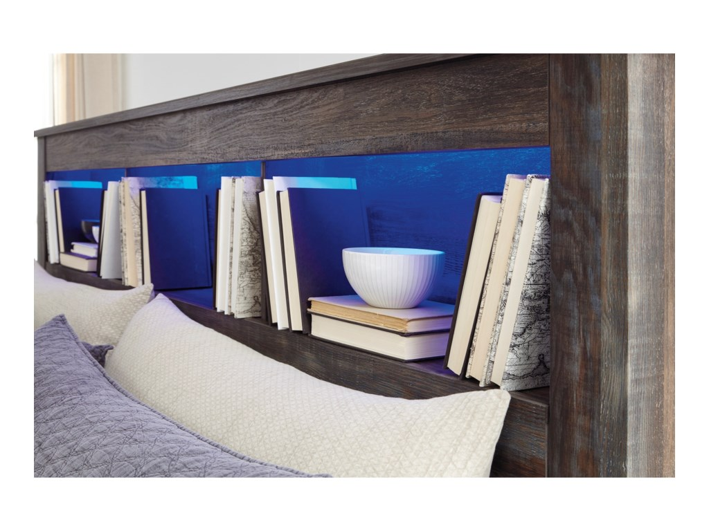 Signature Design by Ashley DrystanQueen/Full Bookcase Headboard