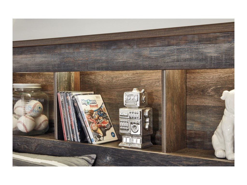 Signature Design by Ashley DrystanFull Bookcase Bed with Footboard Drawers