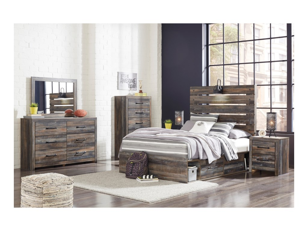 Signature Design by Ashley DrystanFull Storage Bed with 4 Drawers