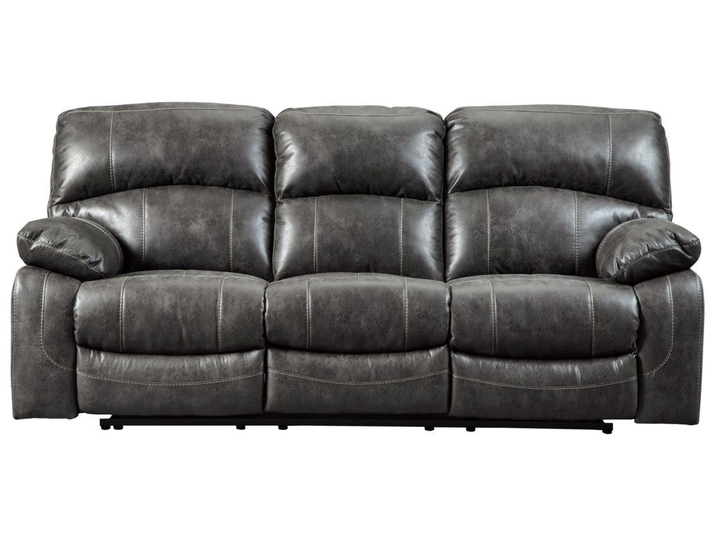 Signature Design By Ashley Dunwell Reclining Sofa W Adjule Headrests