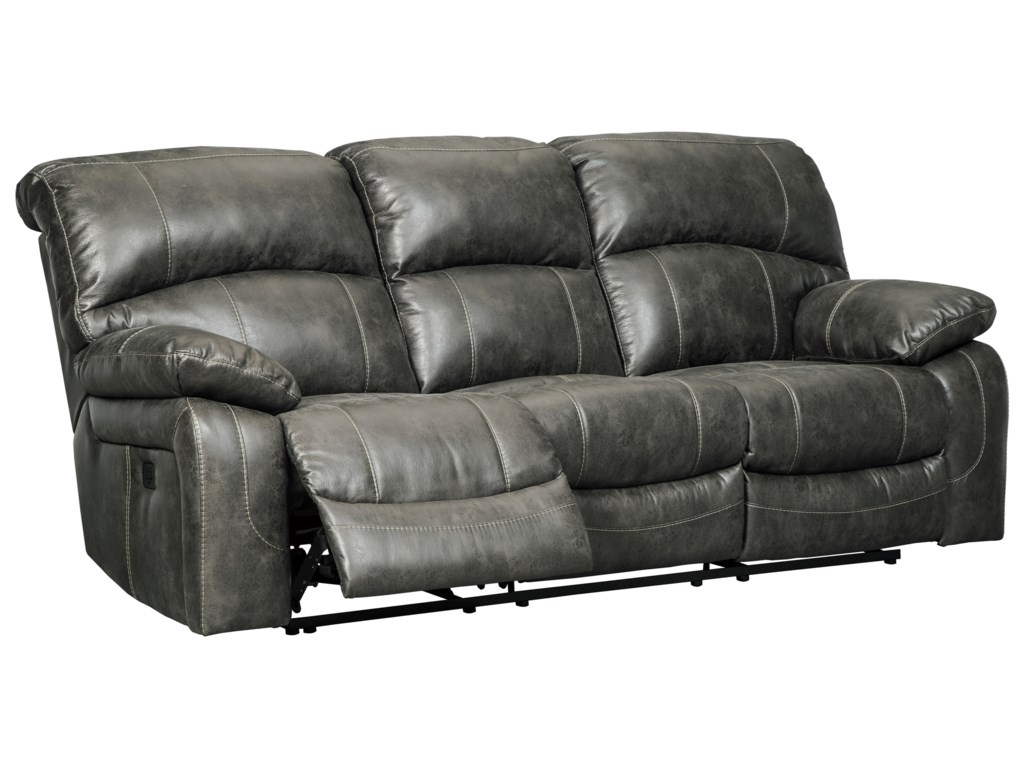 Signature Design by Ashley DunwellPower Reclining Sofa w/ Adjustable Headrests