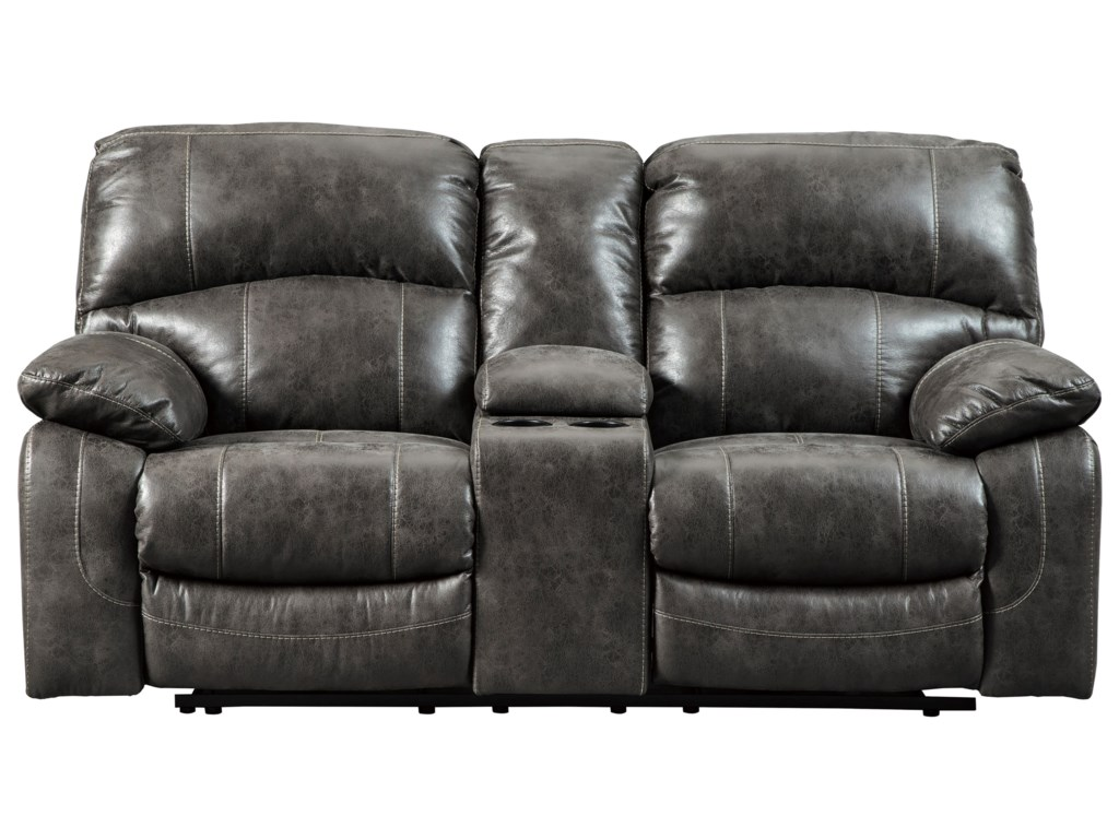 Signature Design by Ashley DunwellPower Loveseat w/ Adj. Headrests & Console