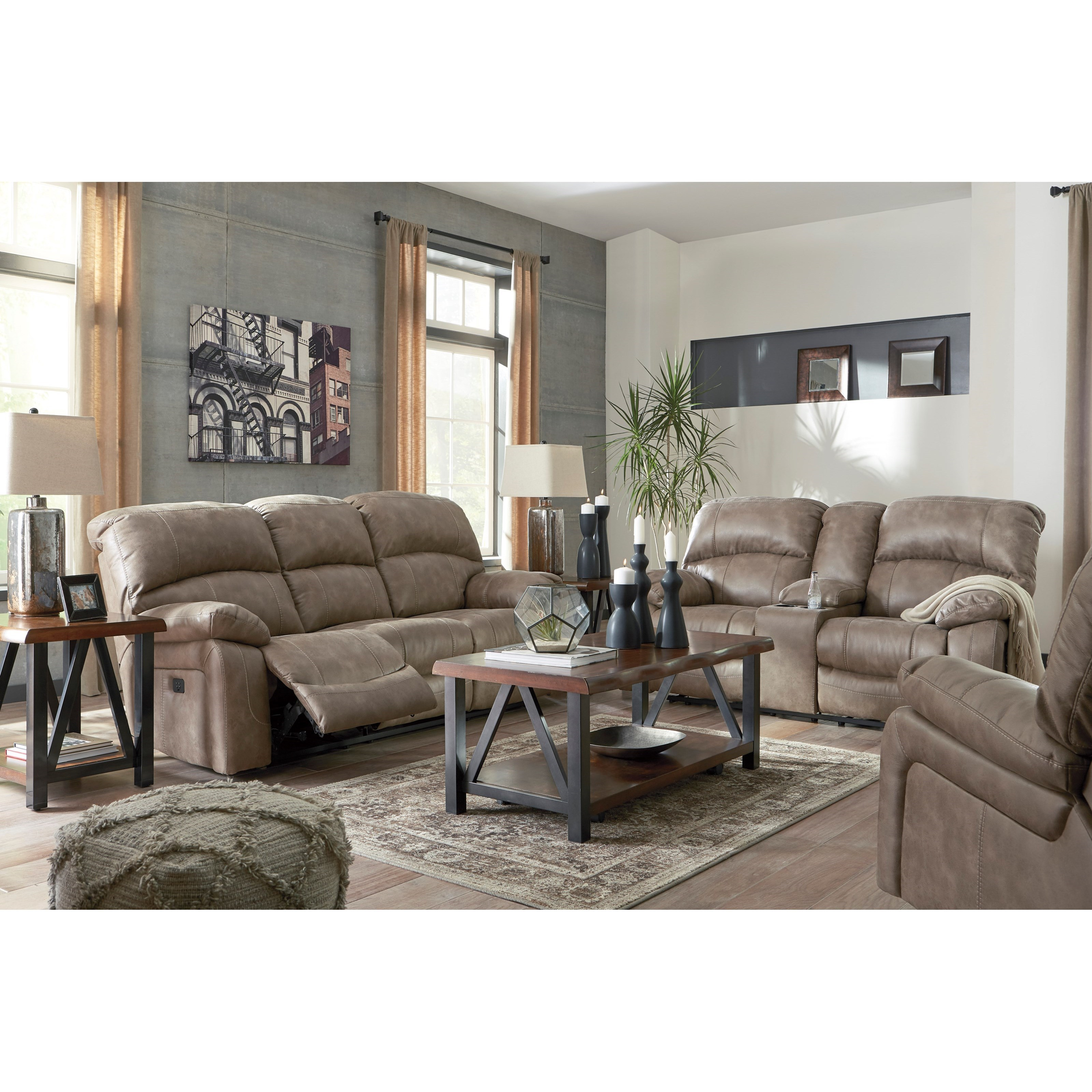 Signature Design By Ashley Dunwell Reclining Living Room Group