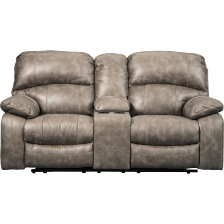 Power Loveseat w/ Adj. Headrests & Console