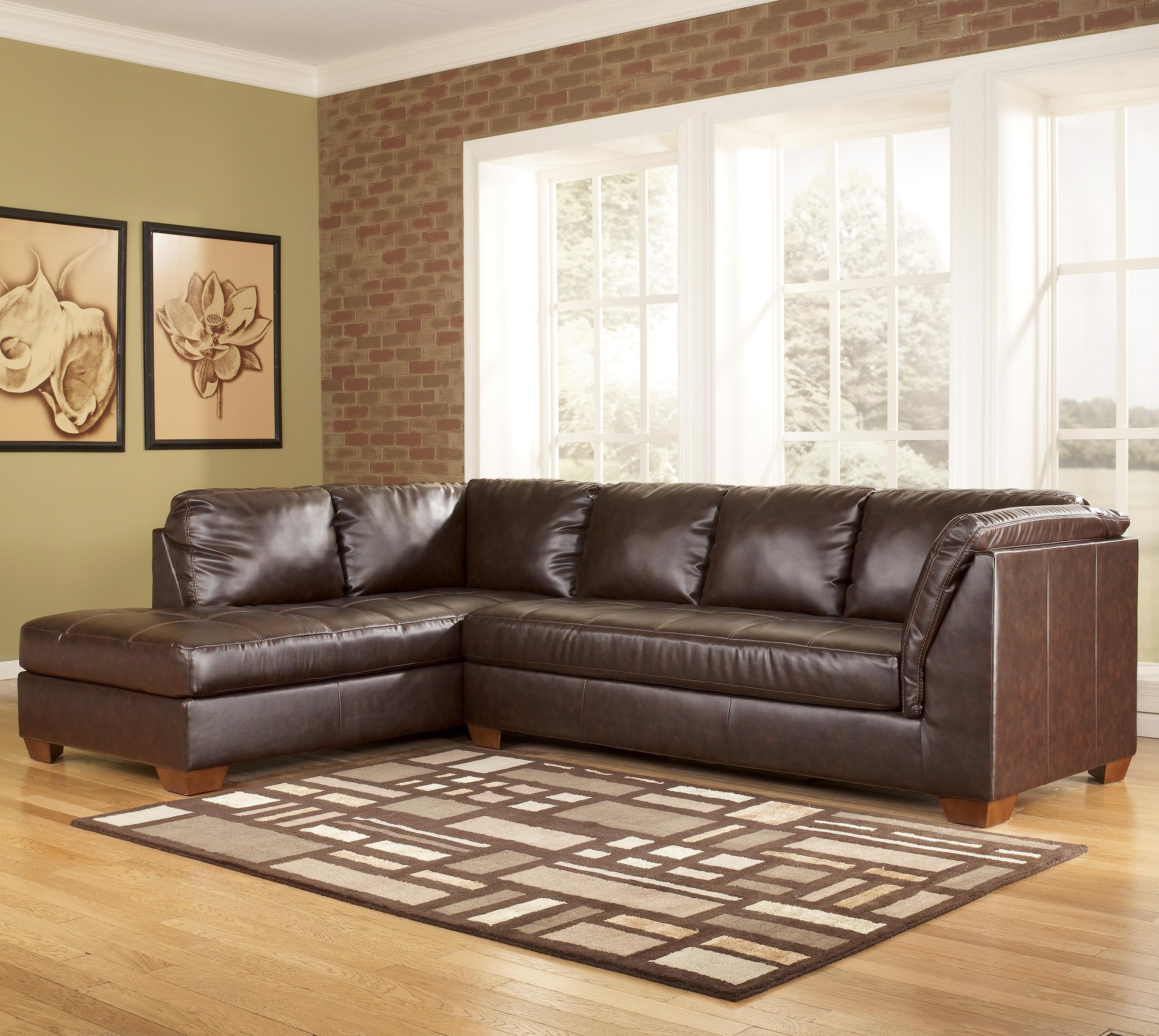 Ashley furniture leather sectional roselawnlutheran for Ashley encore grain chaise