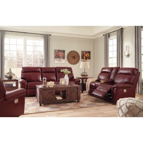 Signature Design by Ashley Duvic Reclining Living Room Group