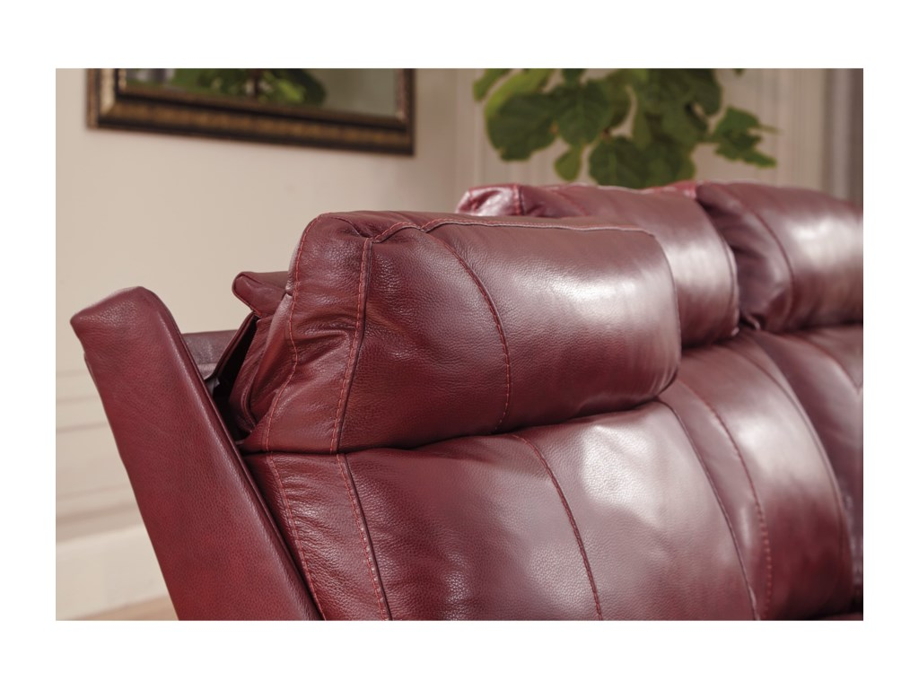 Signature Design by Ashley DuvicPower Reclining Sofa w/ Adjustable Headrests