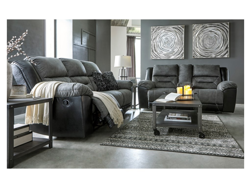 Signature Design By Ashley Earhart Reclining Living Room Group