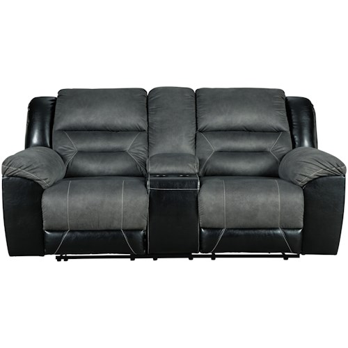 Signature Design by Ashley Earhart Casual Reclining Loveseat with Console